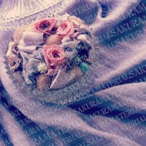 「紫のお花01」の女子向け無料素材