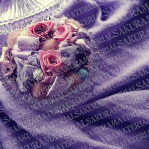 「紫のお花02」の女子向け無料素材