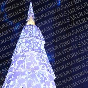 「クリスマスツリー01」の女子向け無料素材