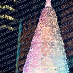 「レインボーのかわいいツリー03」の女子向け無料素材