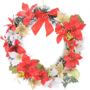 「かわいいクリスマスリース01」の女子向け無料素材