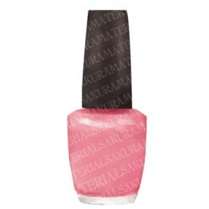 「マニキュア(ピンク)のイラスト01」の女子向け無料素材